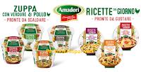 Logo Amadori Promo: assaggia Zuppe e Ricette del giorno!