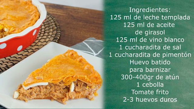 Ingredientes empanada de atún