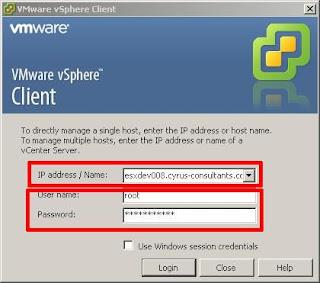 Vmware esx/esxi