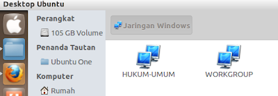 Menelusuri isi jaringan windows di ubuntu