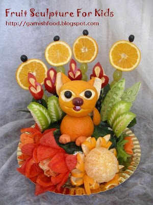 fruit carving for children