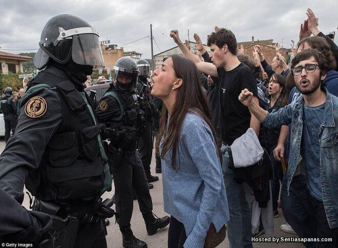Tunjuk perasaan Catalonia
