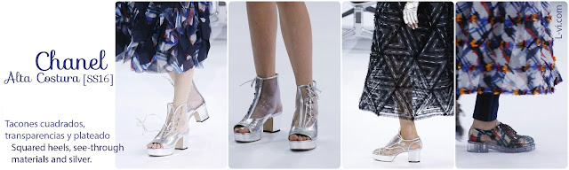 [SS16] Chanel Haute Couture: Squared Heels, silver, and see-through materials. L-vi.com