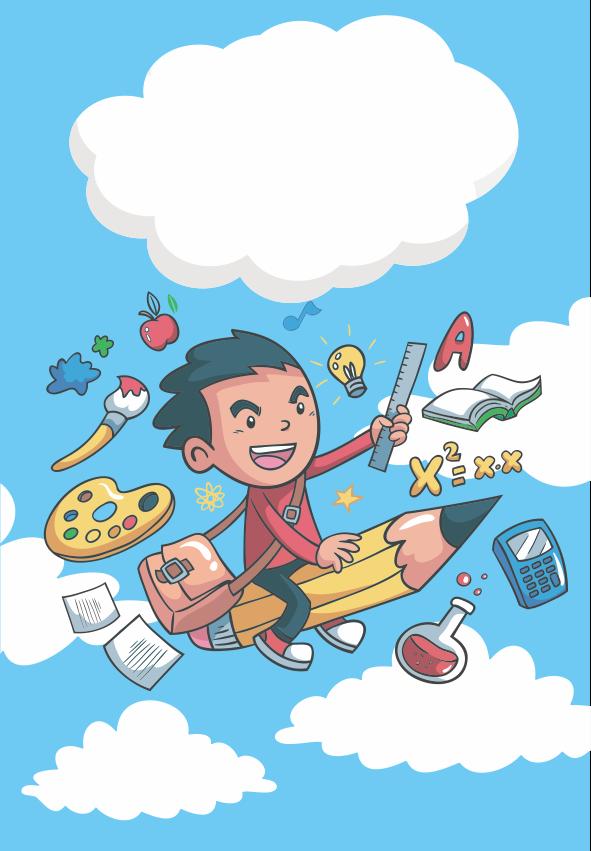 Caratula para cuaderno de matemáticas, letras, ciencias, ingles y comunicación