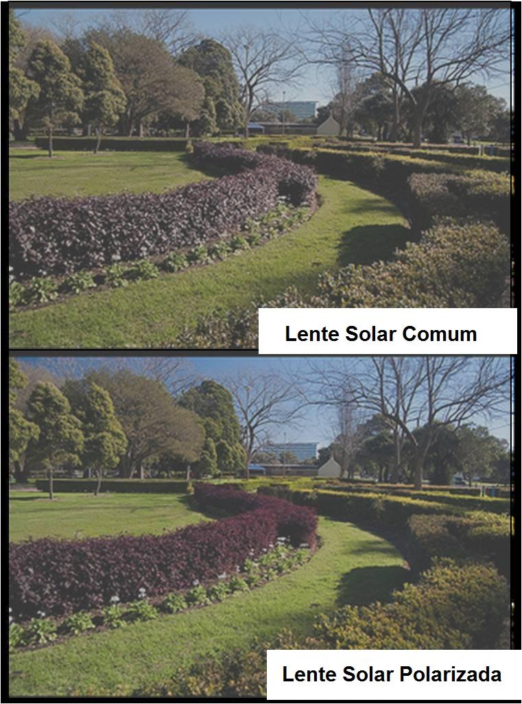 365e000d3bd00 A grande diferença entre a lente polarizada e uma lente solar comum é  justamente o conforto do contraste visual. Ambas as lentes