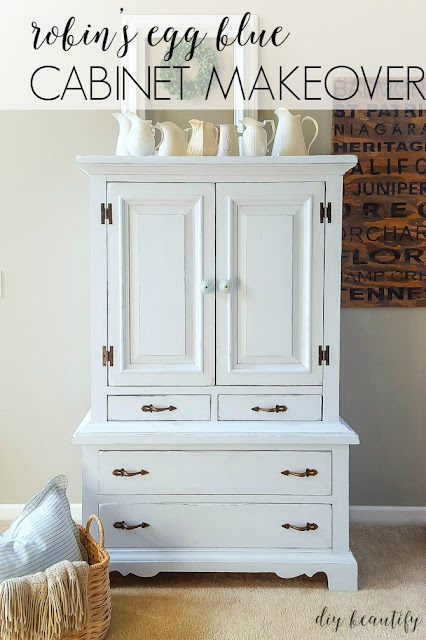 painted cabinet makeover chalk paint