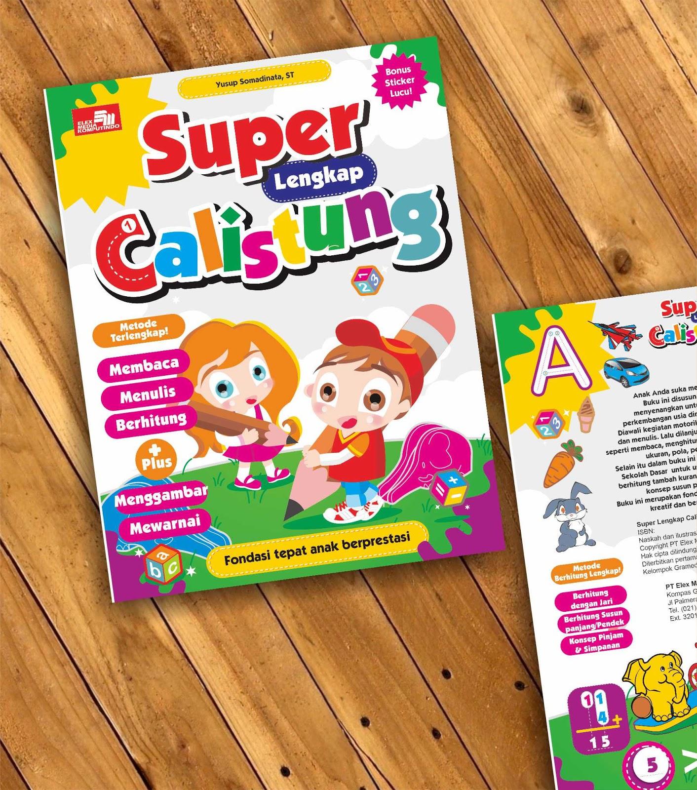 Oleh karena itu yuk kita bekali anak dengan pengenalan Calistung dalam buku Super Lengkap Calistung Ada bonus sticker mewarnai dan menggambar juga