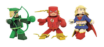 DC Comics Vinimates Series 4 Vinyl Figures by Diamond Select Toys – The Flash, Green Arrow & Supergirl