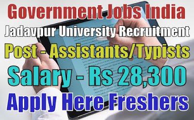 Jadavpur University Recruitment 2019