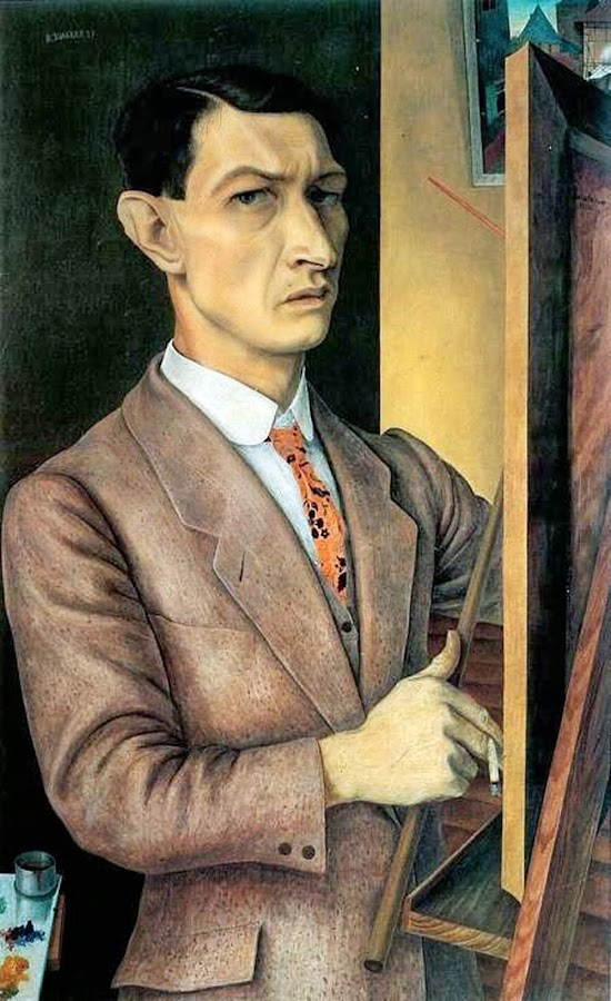 Rudolf Wacker, Self Portrait, Portraits of Painters, Fine arts, Portraits of painters blog, Paintings of Rudolf Wacker, Painter Rudolf Wacker