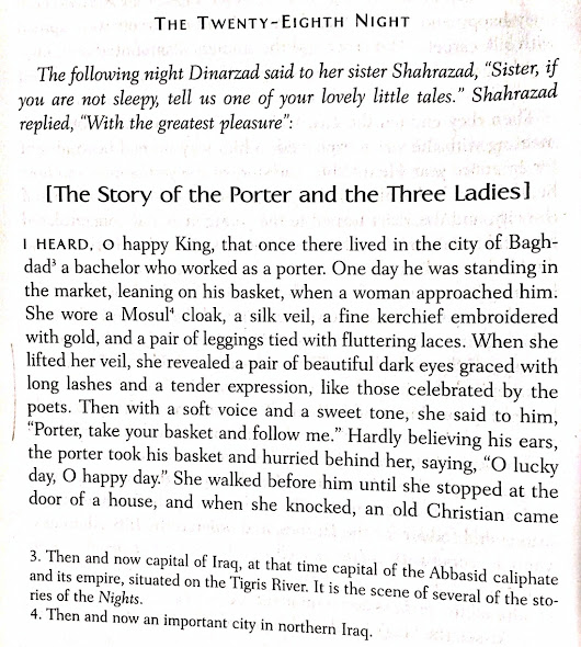 A Beautiful Description of Food in THE ARABIAN NIGHTS
