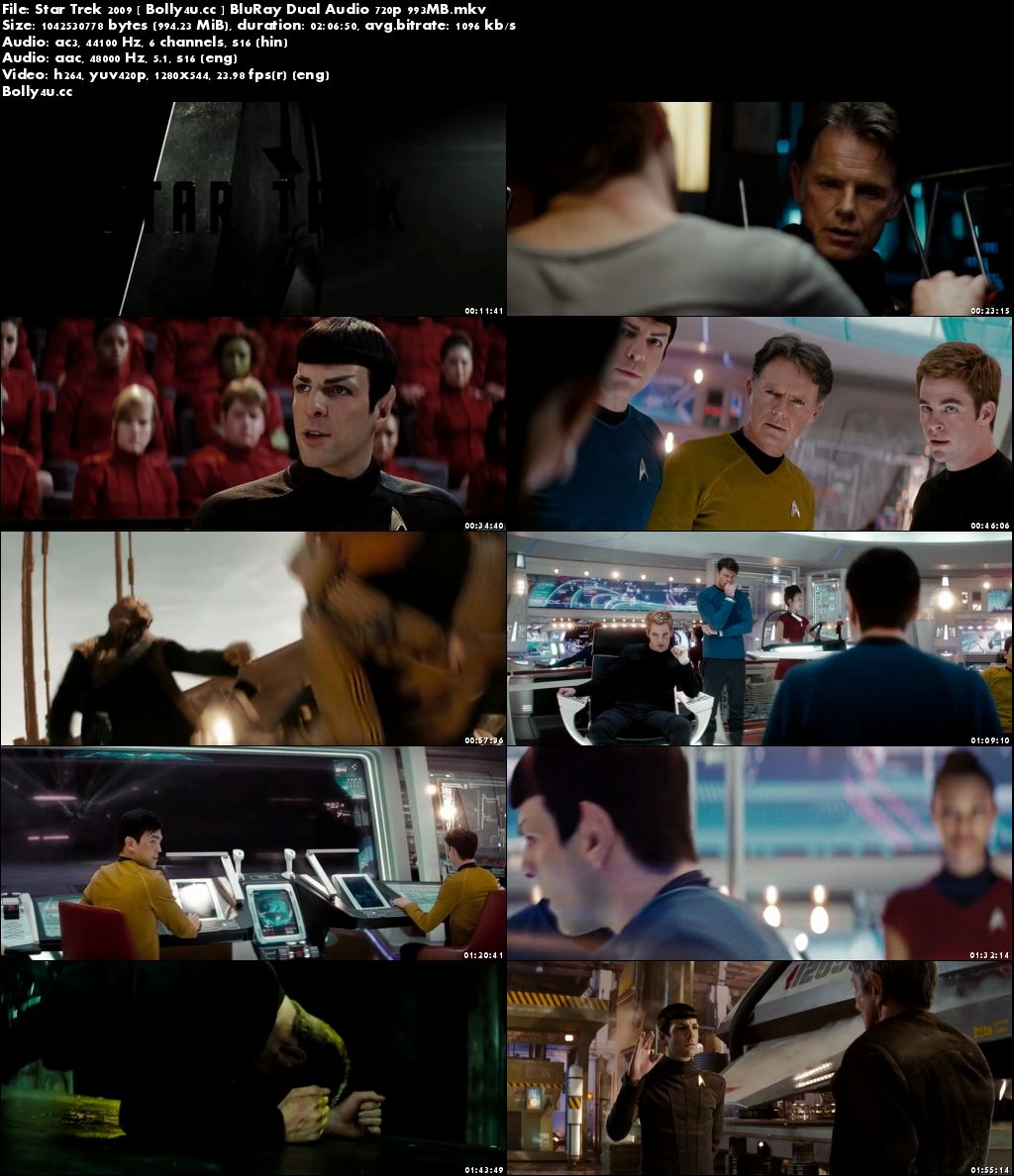 Star Trek 2009 BluRay 950MB Hindi Dual Audio 720p Download