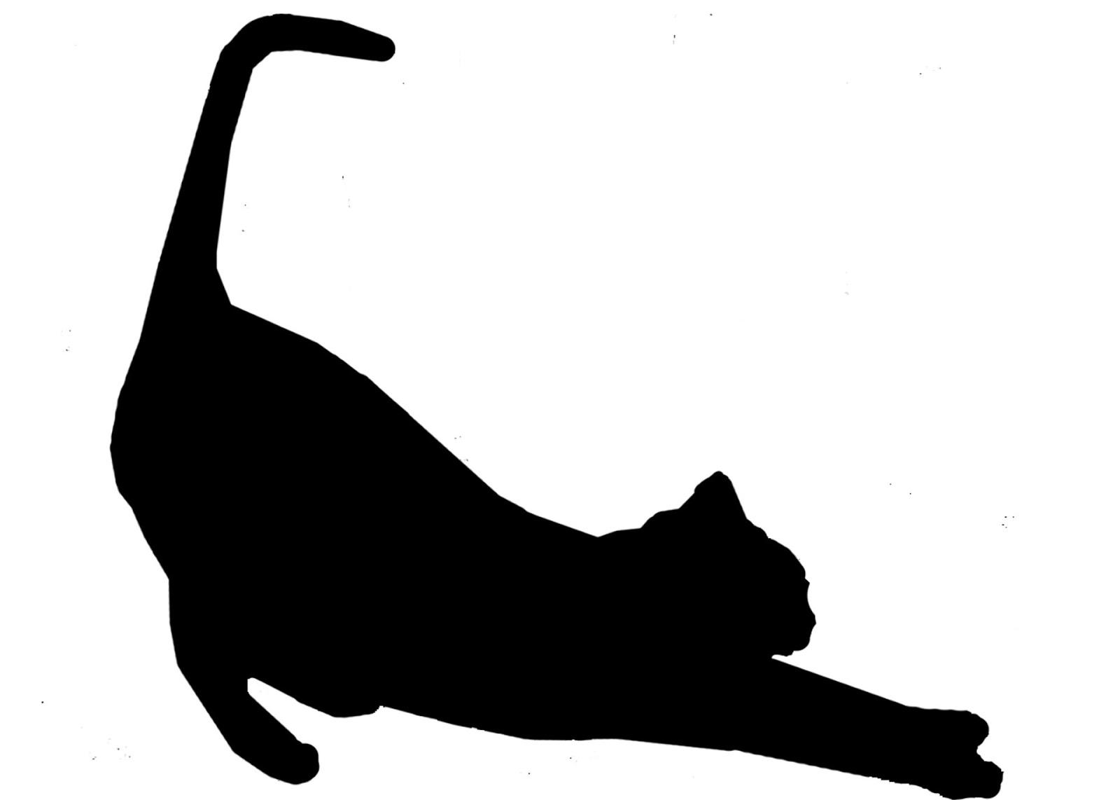 cat-stretch-silhouette-in-black