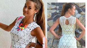 Vestido de Encaje Crochet / moldes y patrones