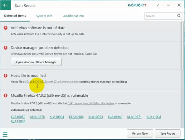 شرح برنامج kaspersky system checker المجاني من شركة كاسبيرسكي