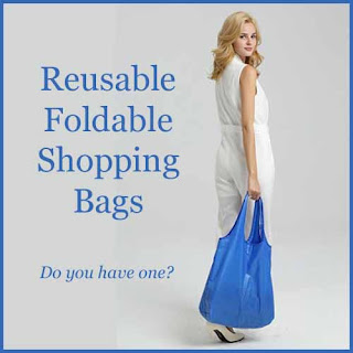 Reusable, foldable shopping bags