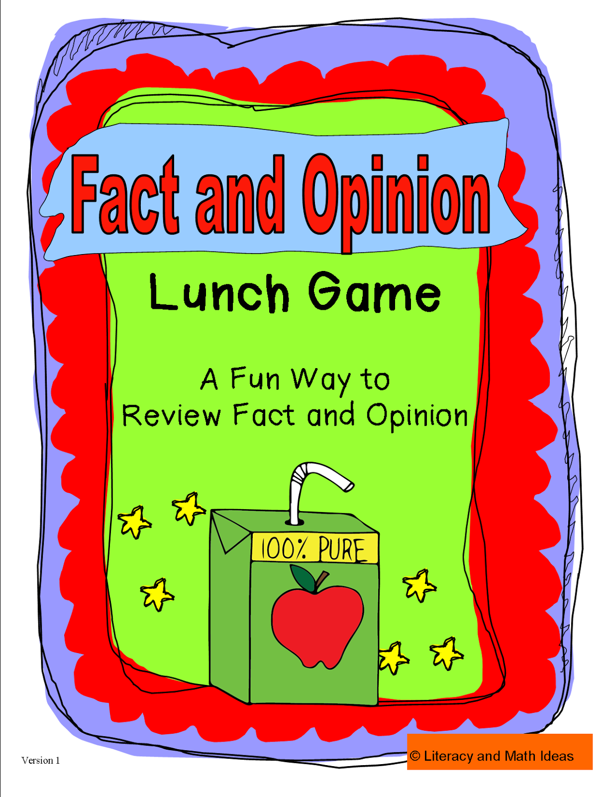 Literacy Amp Math Ideas Fact And Opinion Lunch