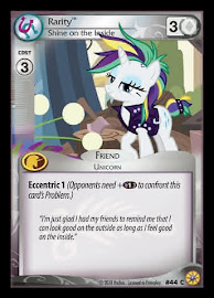 My Little Pony Rarity, Shine on the Inside Friends Forever CCG Card