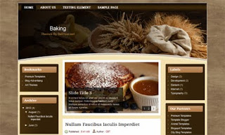 Baking Blogger Template