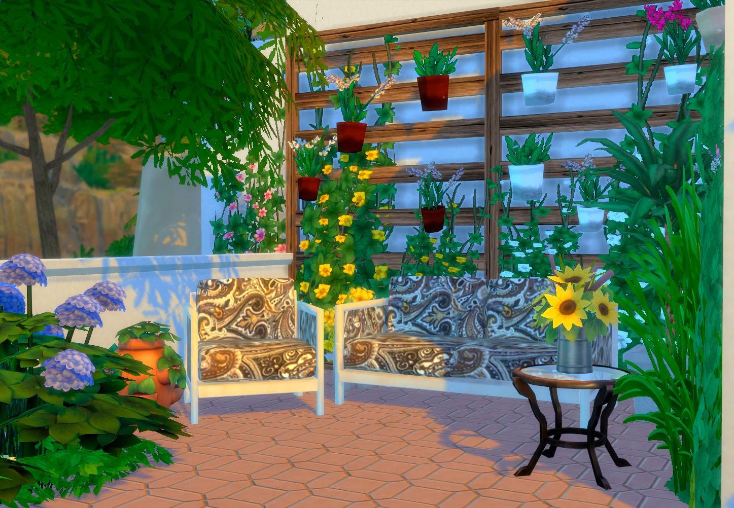 Tono Terraza : Sims terraza ibiza estilo mediterráneo