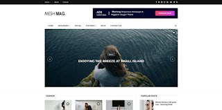 meshmag blogger template