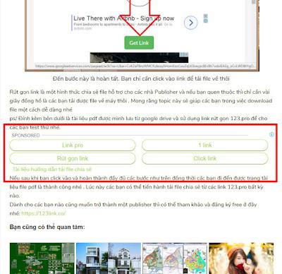 Quảng cáo adsense dạng links ad