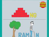 Tebak Gambar Bata NG Pohon RAM Orang Buta N Robot T diganti H