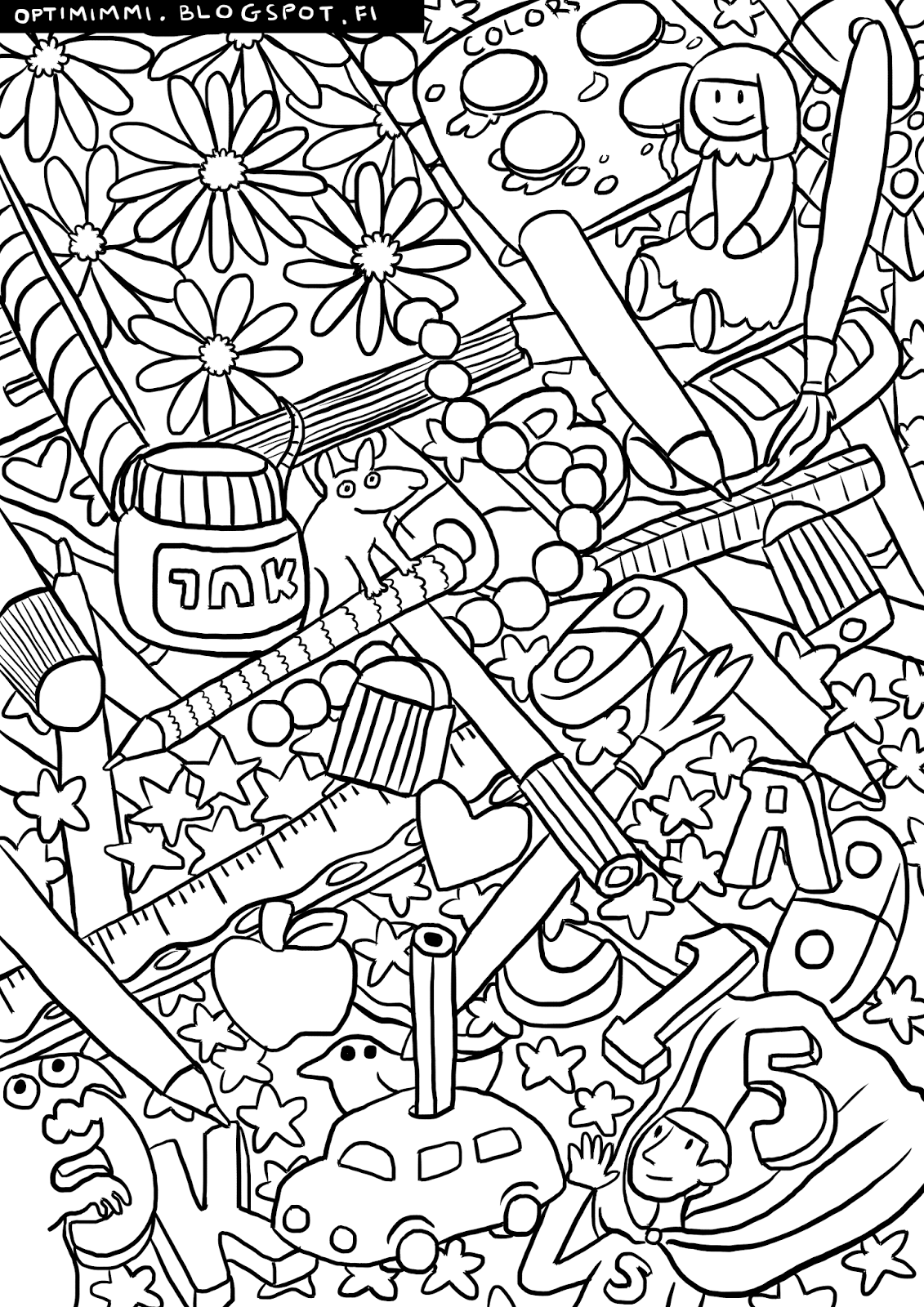 OPTIMIMMI 2016 Coloring pages 2016 V rityskuvat