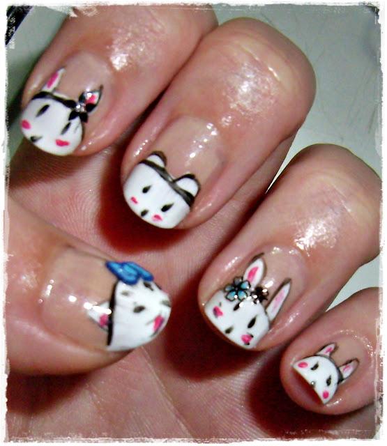 nail art bunny