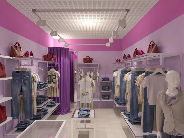 thiết kế shop thời trang nữ đẹp - mẫu số 11