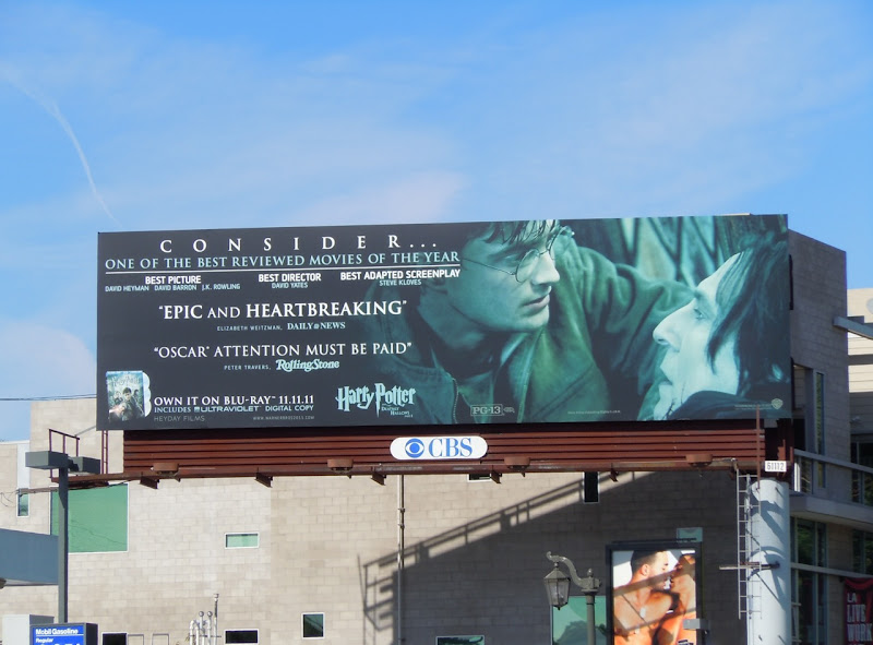 Harry Potter Oscar consideration billboard