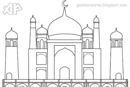 Gambar Untuk Mewarnai Masjid