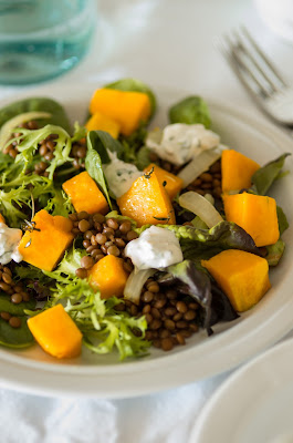salat s tikvoj i chechevicej