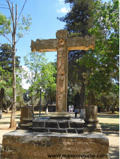 The cross in the main atrium at the Ex Convent in Tzintzuntzan