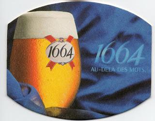 le sous-bock bleu de la bière 1664