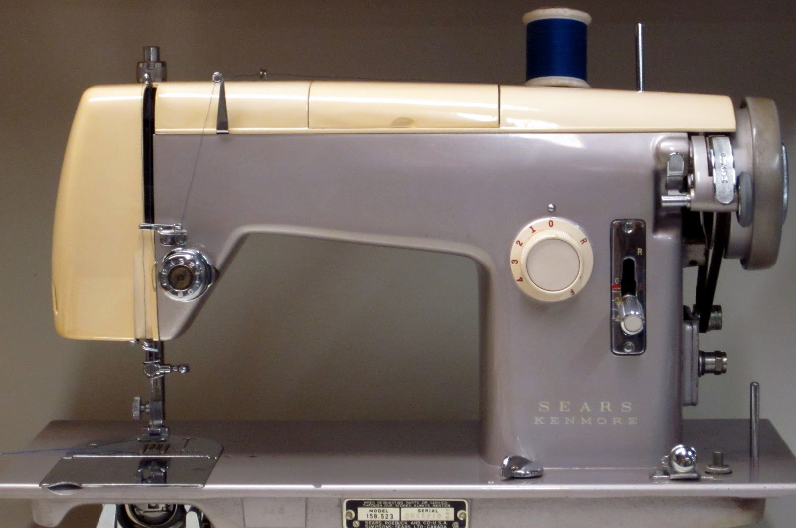 At the local Church rummage sale this Kenmore (made in 1966) was calling me.