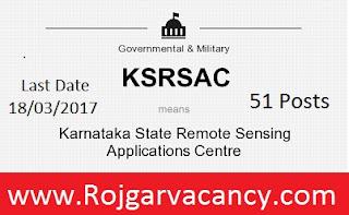 51-team-lead-specialist-karnataka-state-KSRSAC-Recruitment-2017
