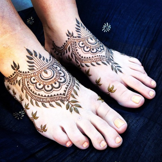 Foot Mehandi Design 3
