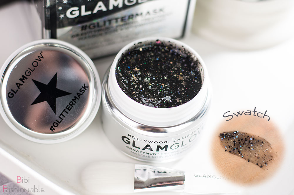 GlamGlow Glittermask Gravitymud Firming Treatment Tiegel offen inkl Swatch