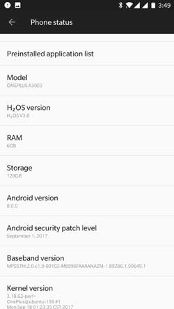 HydrogenOS Based Android 8.0 Oreo for OnePlus 3T