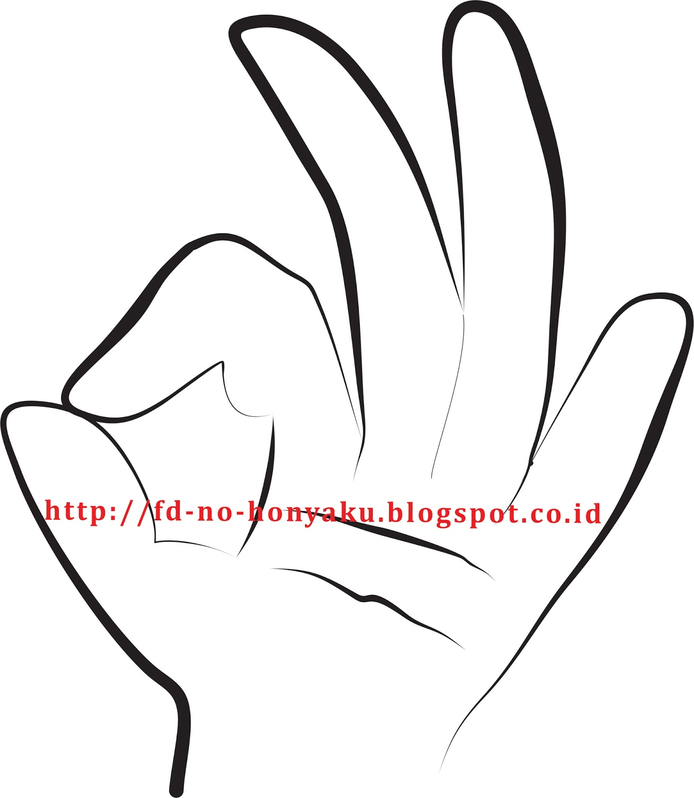 Bagi orang Indonesia bentuk ini bermakna oke atau tanda kesiapan sedangkan tiga jari yang mengarah ke atas dapat diartikan tiga atau ketiga dalam berhitung