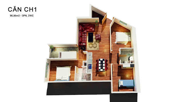 Thiết kế căn 01 tháp doanh nhân
