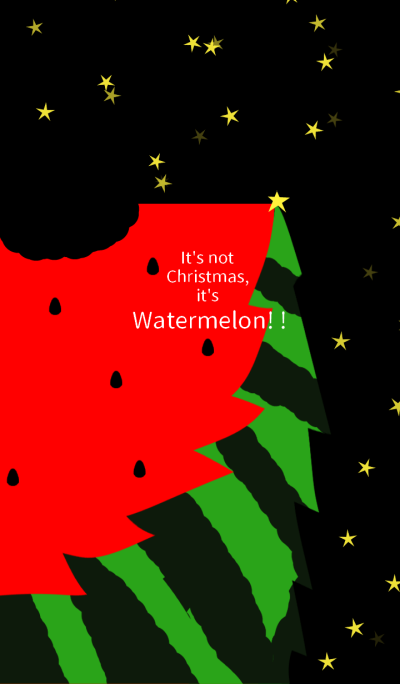 It's not Christmas, it's a Watermelon!!