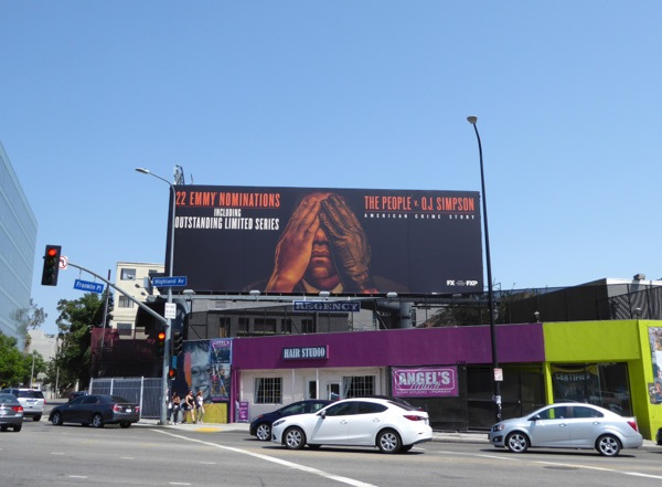 People v OJ Emmy nomination billboard