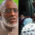 Olisa Metuh was wheeled into Court on a stretcher this morning... it's that bad