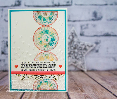Cupcakes and Carousels Circles Birthday Card - Get the Supplies here
