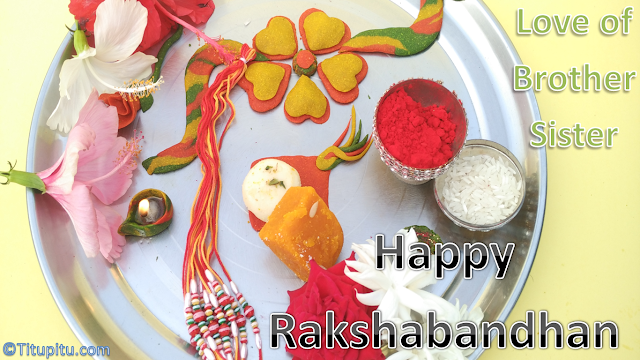 Happy-raksha-bandhan-wallpaper-with-rakhi-thali