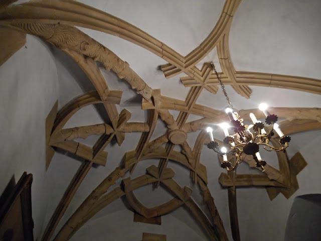 zamek Grodziec, na wulkanie, sufit, Dolny Śląsk