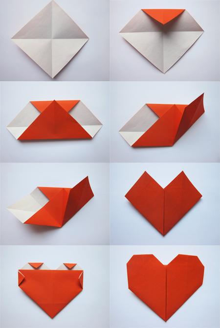 cara membuat origami heart hati atau love bisnis dan