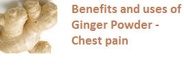 Benefits and uses of Ginger Powder - Chest pain